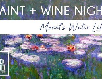 Paint & Wine Night – Monet's Water Lilies