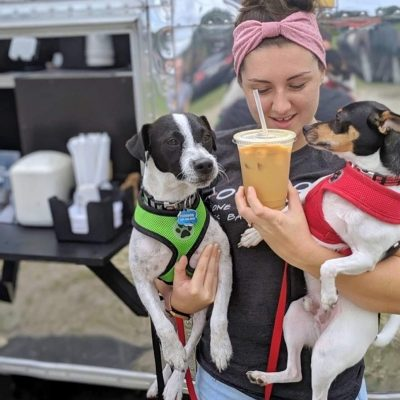 Airstream pop-up Cups and Pups Coffee